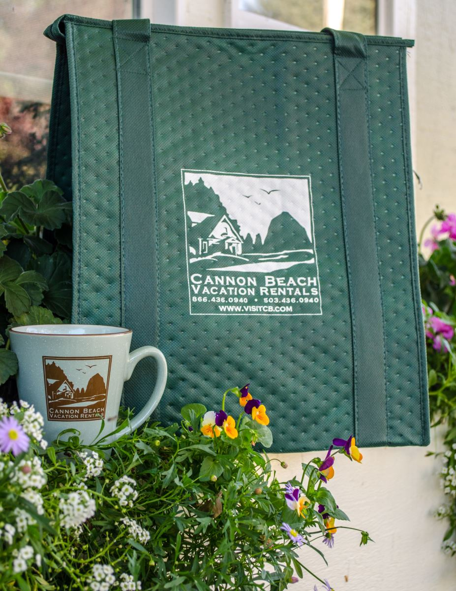 Cannon Beach Vacation Rentals Insulated Tote Bag & Coffee Mug