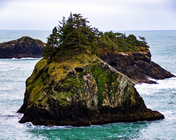 Island off Oregon Coast