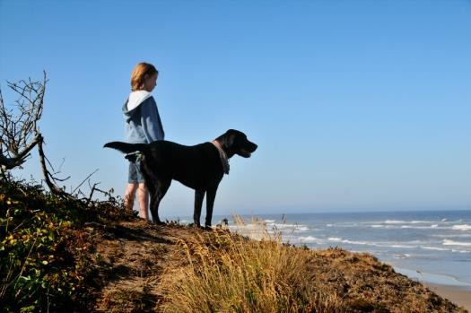 Cannon Beach Scenic Overlook with Dog & Child